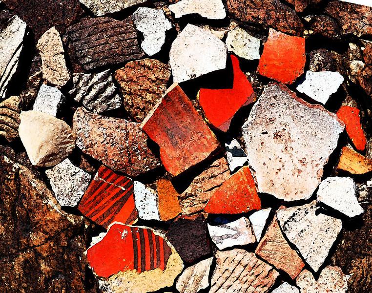 Shards dry brush