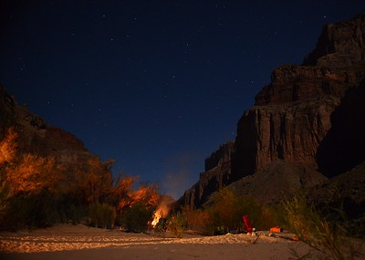 Stars and firelight at Kwagunt Camp