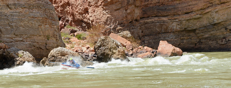 Cave Springs Rapid with some wind added for extra fun