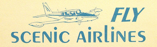 SCENIC AIRLINES, INC. - 1971<br /> <br /> Scenic Airlines was founded in June 1967 by John and Liz Siebold with a five passenger Cessna 205. The small airline operated tours to the Grand Canyon. In 1977, the airline became one of the top ten commuter airlines in the United States. <br /> <br /> By 1993, Scenic Airlines was largest air tour operator in the world and the largest tour operator flying in the Grand Canyon.<br /> <br /> Today, Scenic Airlines exists in name only utilizing the name for marketing purposes. Having been purchased by Grand Canyon Airlines in 2007, the former Scenic Airlines aircraft consisting of DeHavilland Twin Otters operate under the Grand Canyon Airlines name and certificate.