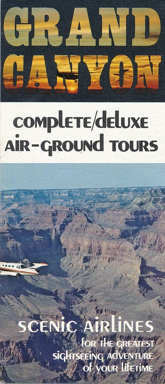 This 1971 promotional brochure not only detailed the tour itinerary, but also featured the accident aircraft on the front cover.