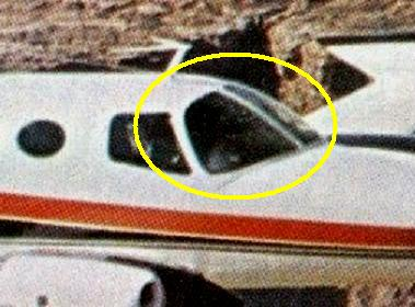 The same sections cockpit window frame located on N3250Q prior to the accident.