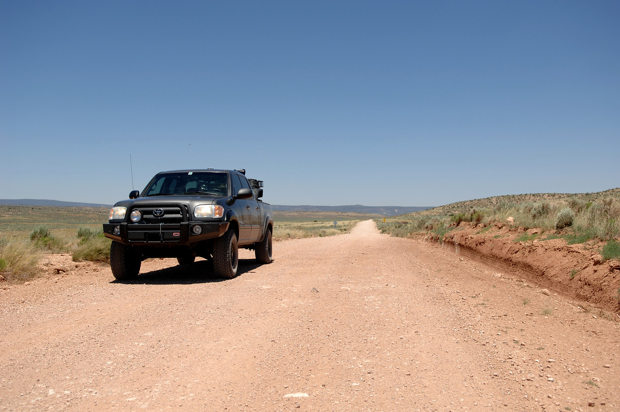 """THE ARIZONA STRIP - JUNE 2010<br /> <br /> Access to the crash site is limited to travel on vast expanses of dirt road leading south from St. George, Utah into a remote area of Northern Arizona known as the """"Arizona Strip""""."""