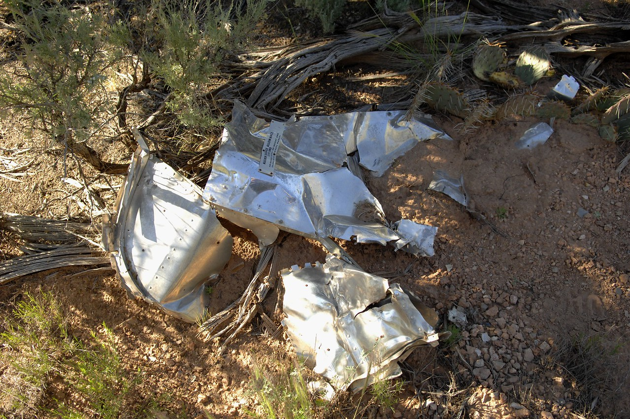 THE DEBRIS FIELD<br /> <br /> The remnants of the aircraft's aft baggage compartment bulkhead.