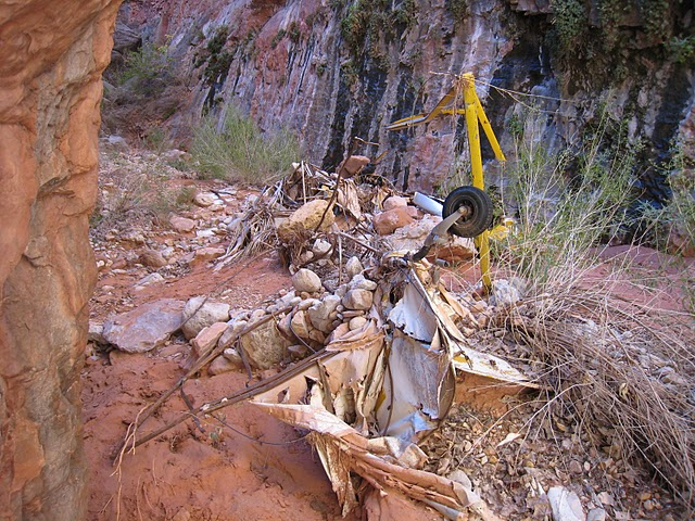 From the remaining wreckage present at the site, it appears that much of the aircraft is still present at the site, although severely mangled by impact and erosion damage.