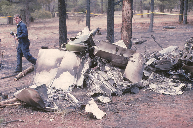 With a full load of 100LL fuel (336 pounds) to burn, there was not much left of the aircraft's structure.