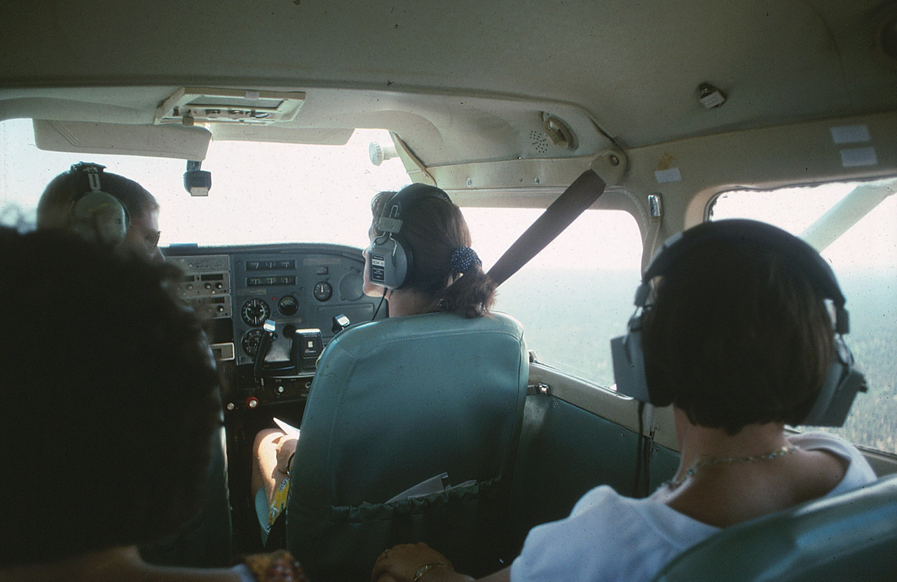 "The passenger cabin of ""Adventure One"" was typical of most 200 series Cessna's. The passengers on AGC tour flights were provided music and a live tour narration by the pilot over the headphones."