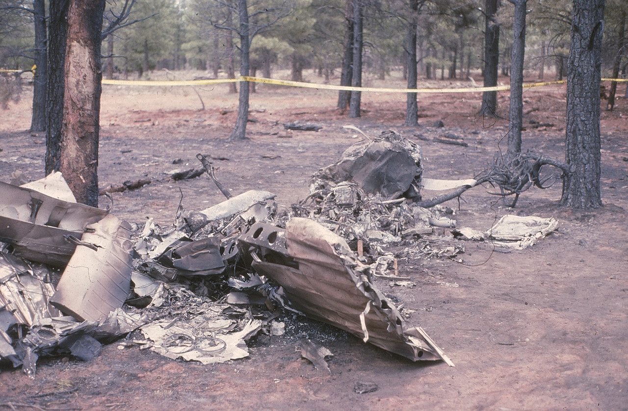 The main wreckage was contained within a 20 foot radius.