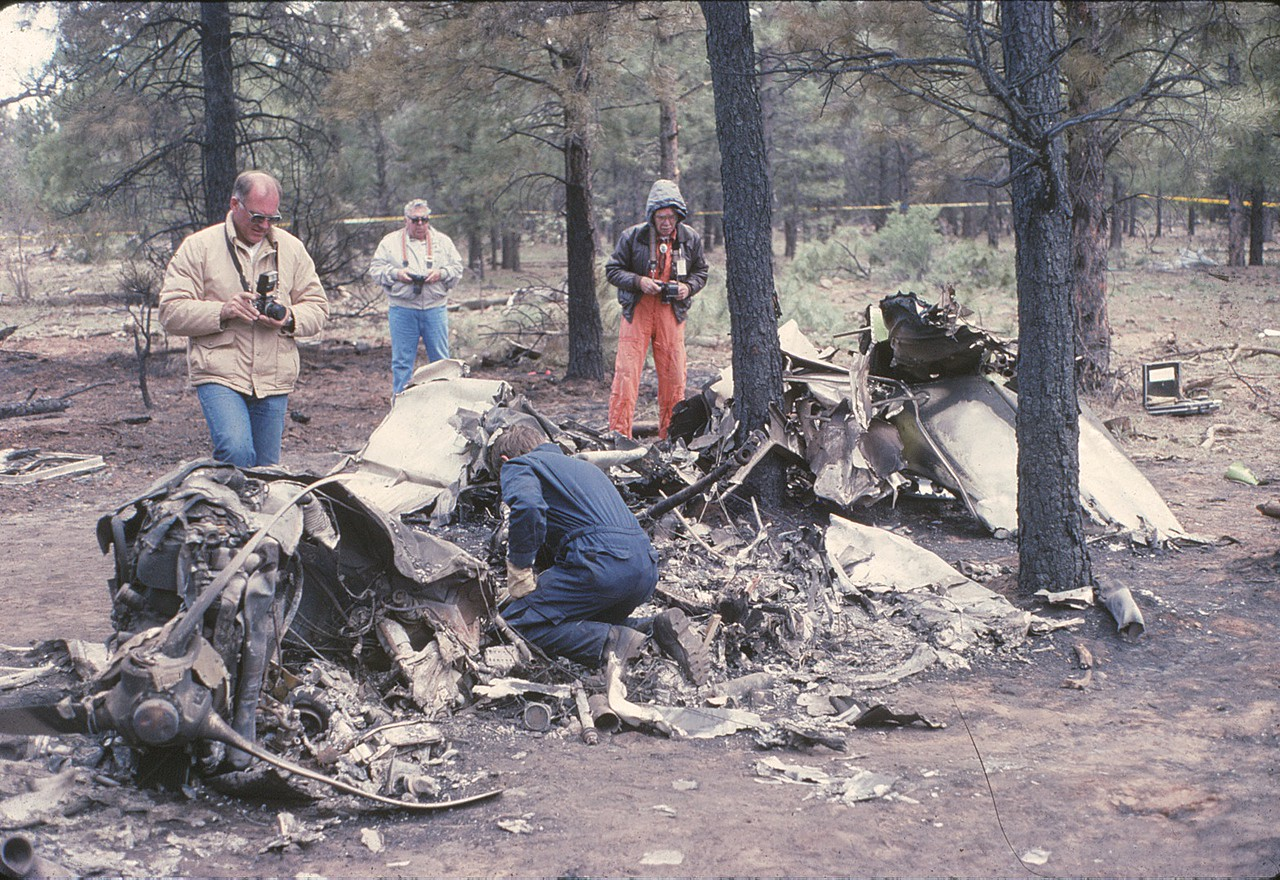 NTSB Investigators were flown in from Los Angeles, California to examine the wreckage. Participating in the investigation were representatives from Cessna Aircraft, Continental Motors, and the company's insurance carrier.