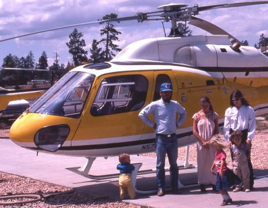 During the early 1980s, Thybony began flying Grand Canyon helicopter air tours on a regular basis with Madison Helicopters. He also served as their Chief Pilot. (Courtesy of Scott Thybony)
