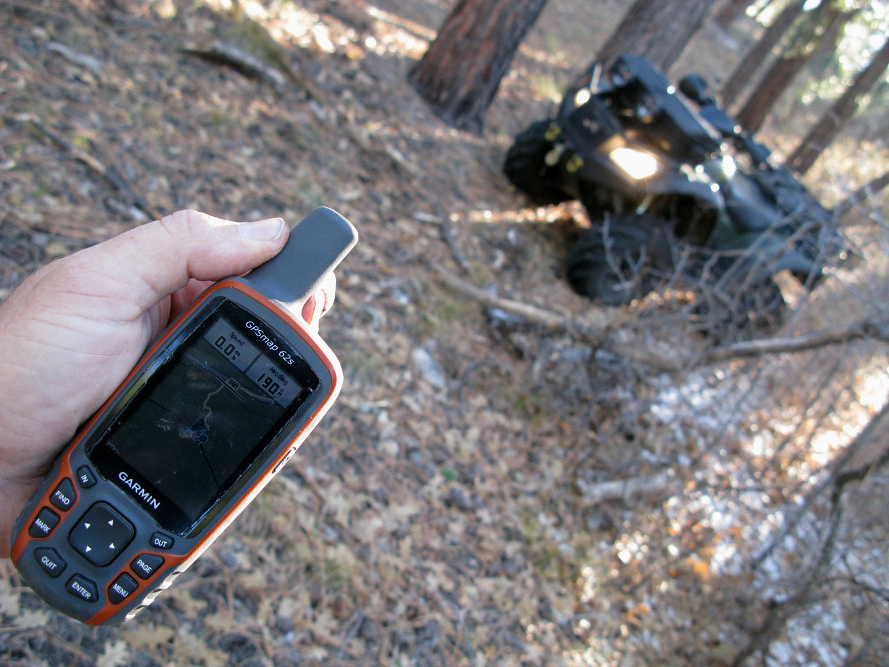 After making a long hike to the Point Sublime Road, I finally found my ATV. Gotta love these hand-held GPS receivers!