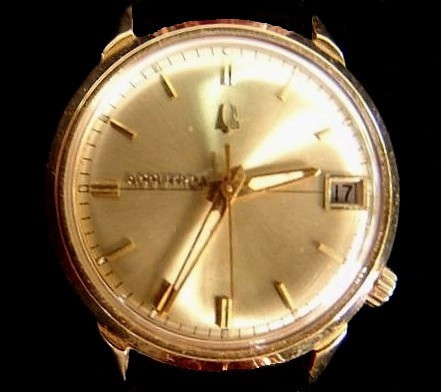 BULOVA ACCUTRON WATCH<br /> <br /> Designed in America and handcrafted in Switzerland, this Bulova Accutron is identical to the one located at the crash site.
