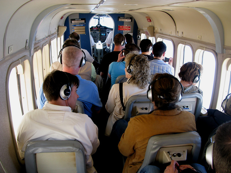 Passengers aboard a Grand Canyon Airlines Vistaliner received an unparalleled view of the Grand Canyon and a live tour narration by one of the two pilots. In most cases, the non-flying pilot.