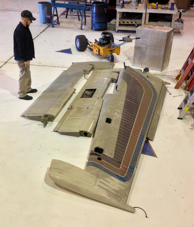 During August 2013 and over 27 years after the disaster, the rudder and elevator flight control assemblies were brought down from the attic to the floor of the hangar.<br /> <br /> For several days maintenance personnel contemplated what to do with the components.