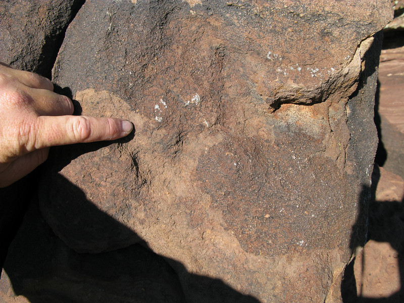 Additional metallic transfer marks were found on an adjacent boulder. The NTSB's accident report failed to mention contact with these boulders.