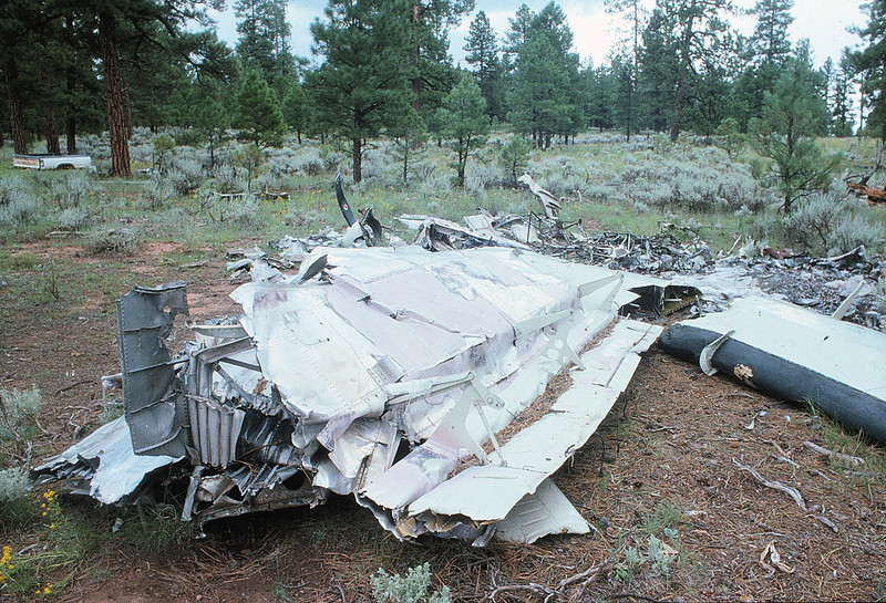The Vistaliner's wings were one of the few recognizable parts remaining after the collision. The dump site contained both wings from the aircraft. (1990 LostFlights)