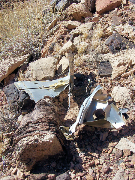 Additional fragments from the Constellation's tail section. (2006 LostFlights)