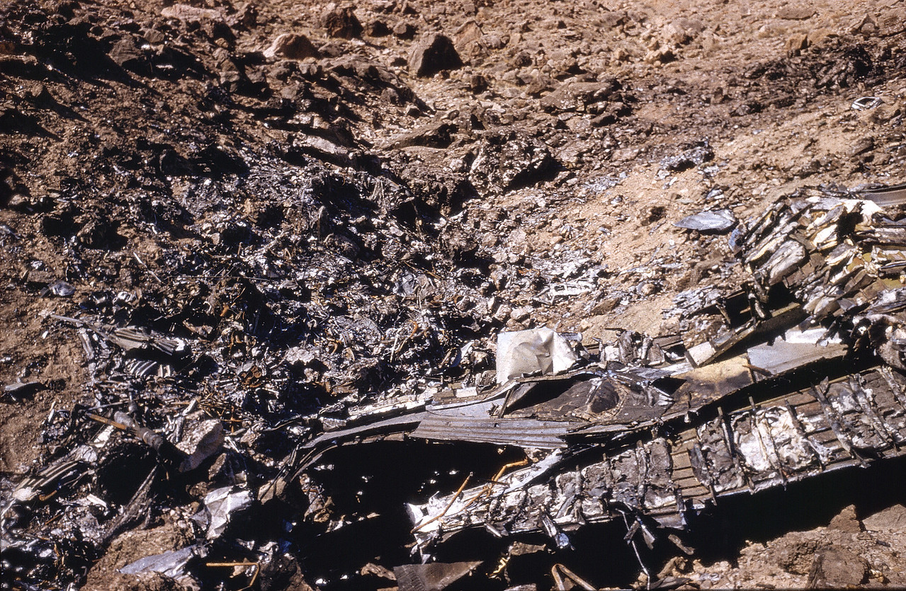 October 1956 photo of the TWA Impact Site. (LostFlights Archive Photo)