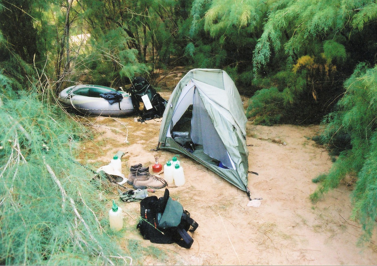 Camping at Temple Butte during my trip in 2002.