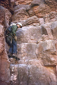 Volunteer climber from the Rocky Mountain Climbing Club. (LA Times Photo)