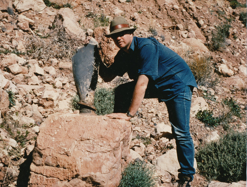 A propeller fragment at the TWA impact site. (1991 LostFlights)