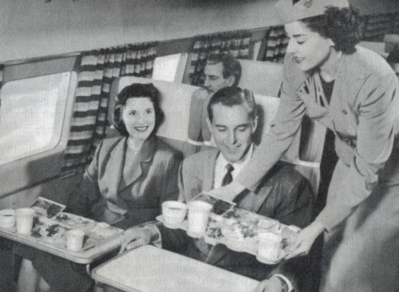At around 1030 AM (PST), the passengers of TWA Flight 2 were probably finishing a snack and beverage provided by Hostesses Beth Davis and Tracine Armbruster.