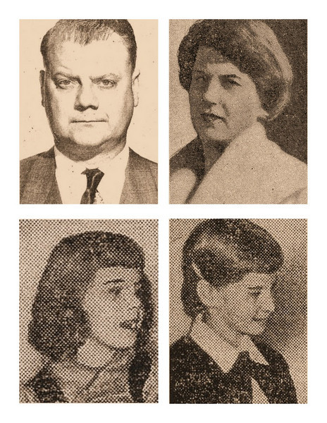 America was shocked by the disaster but the headlines took center stage when news broke that entire families were lost in the disaster like the Kite Family on TWA Flight 2. <br /> <br /> Pictured are TWA employee Joseph J. Kite, 42 his wife Peachie Marie Kite, 38 and their children Linda, 7 and Sharon, 9.