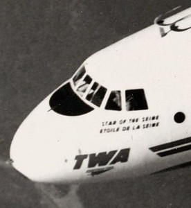 COLLISION OVER THE CANYON - 10:31 AM (PST):<br /> <br /> With United Flight 718 converging from behind and to the right, the crew of TWA Flight 2 never knew what hit them. (LostFlights Archive Photo)