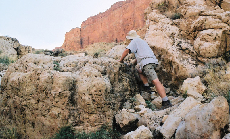 This photo illustrates the type of terrain at the Grand Canyon crash sites. (2002 LostFlights)