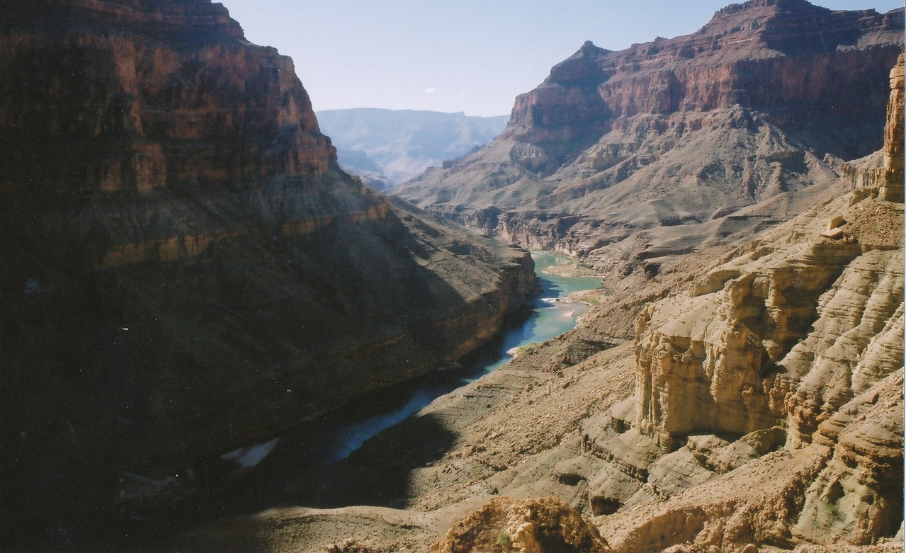 The views from within the canyon can be spectacular such as this shot from Chuar Butte looking south down the river from the UAL DC-7 site.