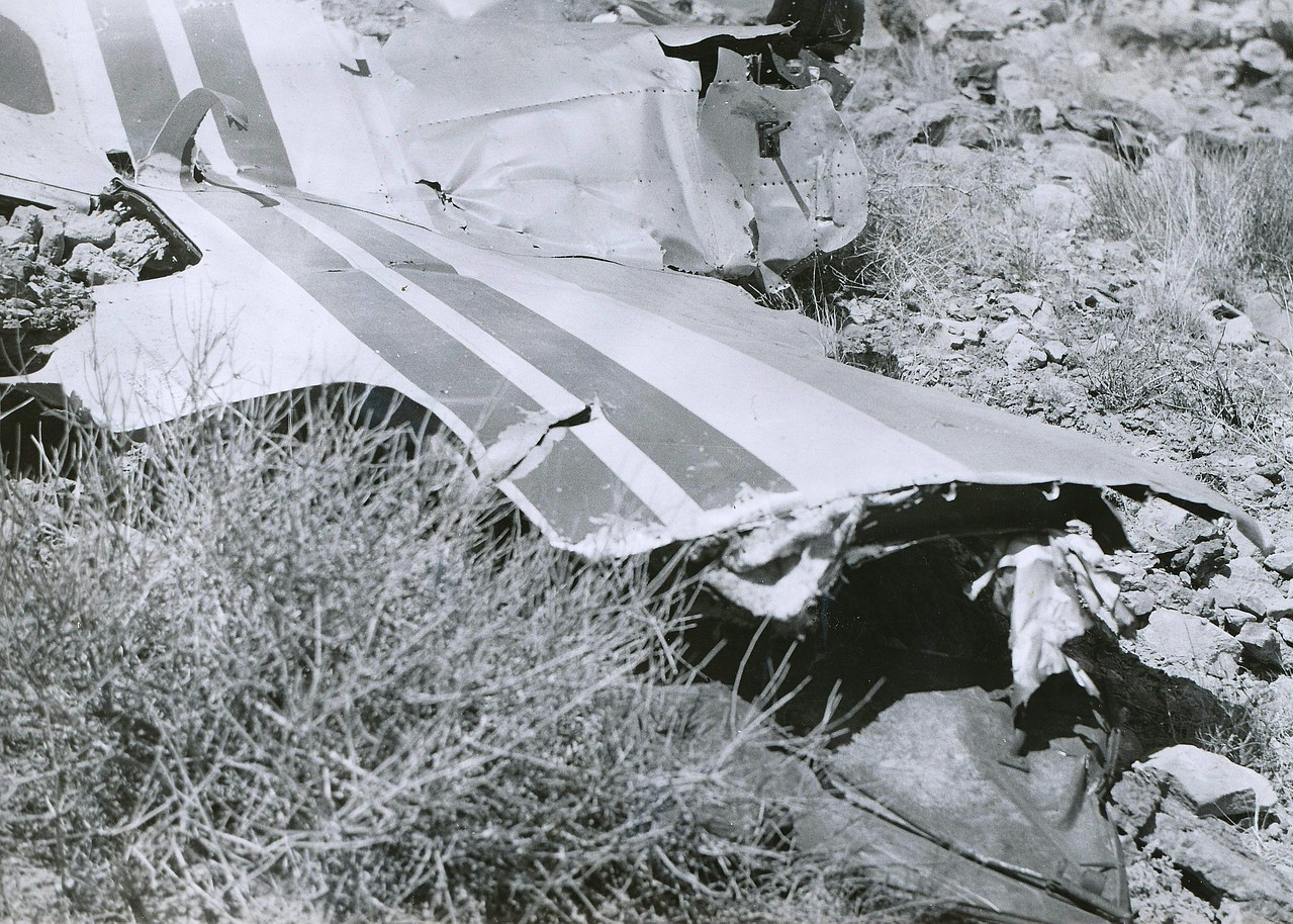 A fragment of the Constellation's fuselage. (LostFlights Archive Photo)