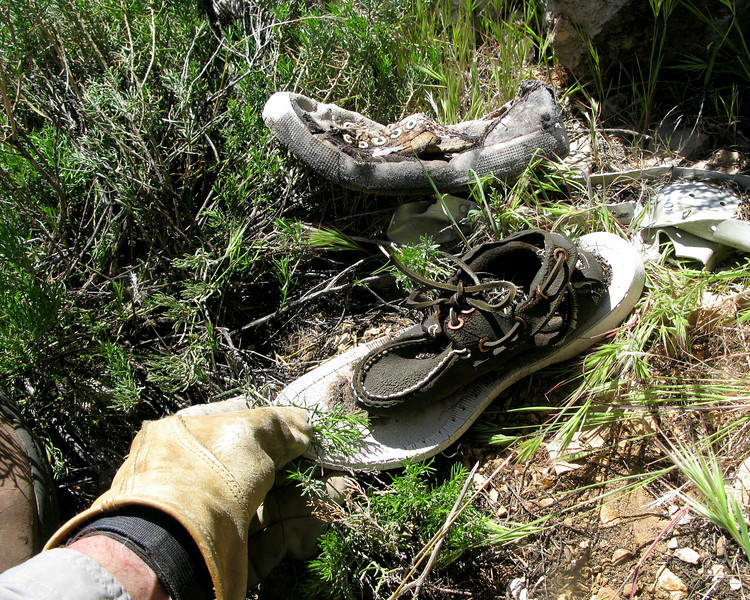 The discovery of shoes at the crash site really brought out the realization of tragedy and the human toll that this accident created.