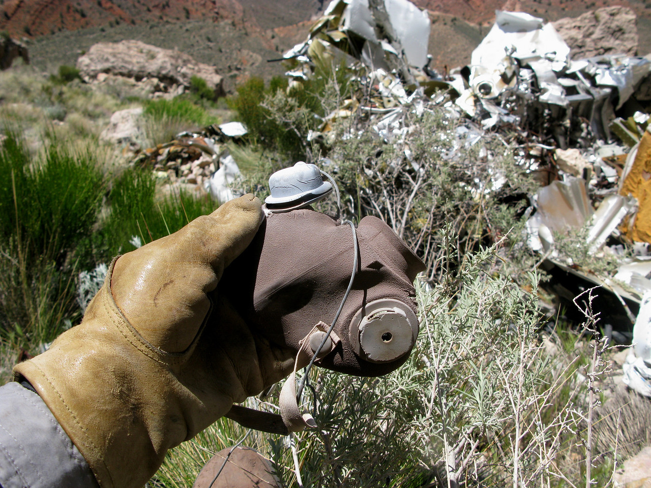 This mask was part of aircraft's installed oxygen system.