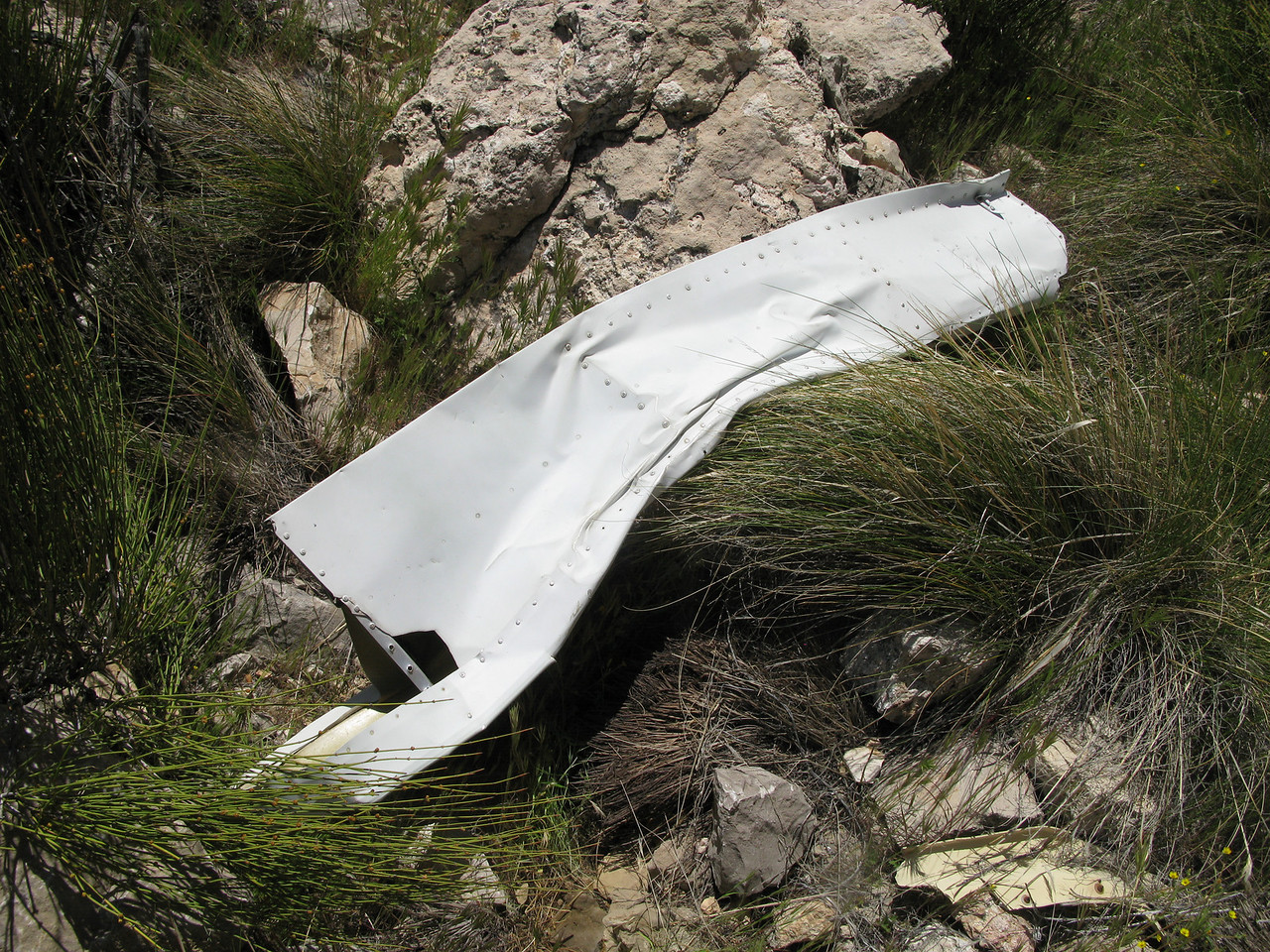 This horizontal stabilizer was thrown quite a distance from the main body of wreckage.