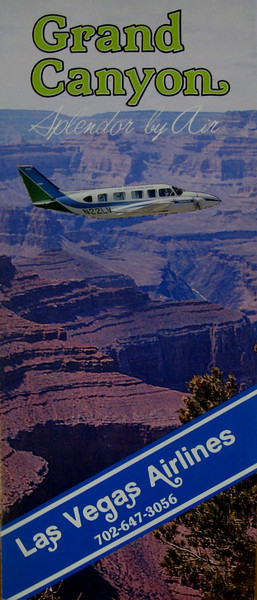 LAS VEGAS AIRLINES, INC. - SUMMER 1983<br /> <br /> Las Vegas Airlines was established in 1973 and operated air tour/charter flights from the North Las Vegas Airport (KVGT) in Las Vegas, Nevada. Pictured is a Las Vegas Airlines air tour brochure from the summer of 1983. The airline eventually ceased operations in late 1998-99.<br /> <br /> (NOTE) The aircraft pictured (N22LV), was destroyed in the early morning hours of May 20, 1987 when an intoxicated aircraft mechanic for Las Vegas Airlines attempted to fly the aircraft. The plane traveled about 3 miles from the North Las Vegas Airport before it crashed inverted and nose-first in an open field. (2010 Lostflights)