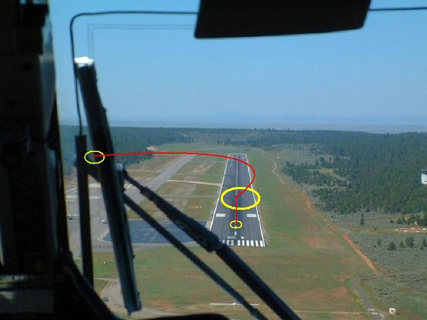 THE ACCIDENT - SEPTEMBER 27, 1989<br /> <br /> Canyon 5's final approach to runway 21 appeared to be normal, but the aircraft bounced once and control was lost on the second touchdown. The flight then began to veer to the right ride and then ultimately to the left of the runway as depicted by the graphic illustration.