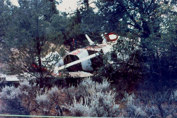 The cockpit section of the aircraft took most of the blunt force impact in the accident. As a result, both crew members received fatal injuries.