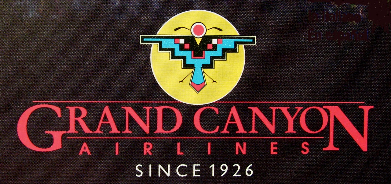 """GRAND CANYON AIRLINES - 1989<br /> <br /> The air tour season of 1989 would be the start of a decade long increase in tourism to the Grand Canyon. By 1989, Grand Canyon Airlines was operating four deHavilland Twin Otter """"VistaLiner"""" aircraft and most flights were operating at full capacity."""