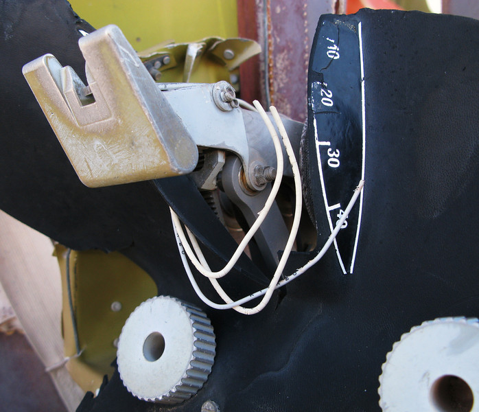 This flap lever on approach would have been set to the full (37.5 degree) position. During the go-around on the accident flight the lever was found to be re-positioned to 10 degrees.