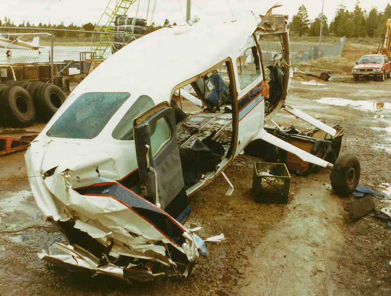 The passenger cabin of the Cessna T207 maintained its integrity throughout the impact sequence.