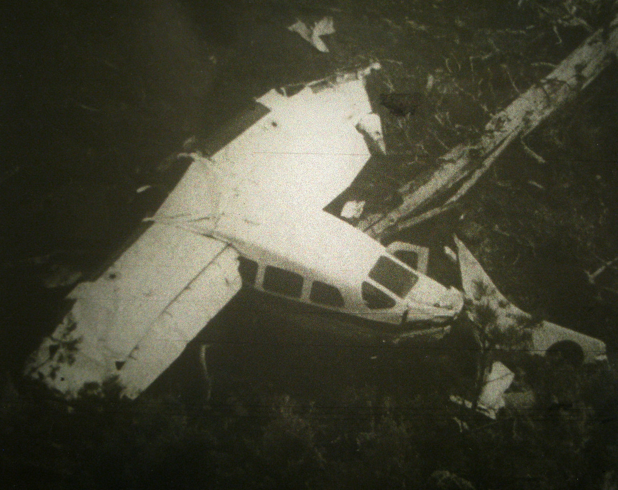 After striking numerous boulders and rocks. The front of the aircraft sustained a majority of the damage while the passenger cabin remained intact. The aircraft  was spared catching fire just by chance and pure luck.