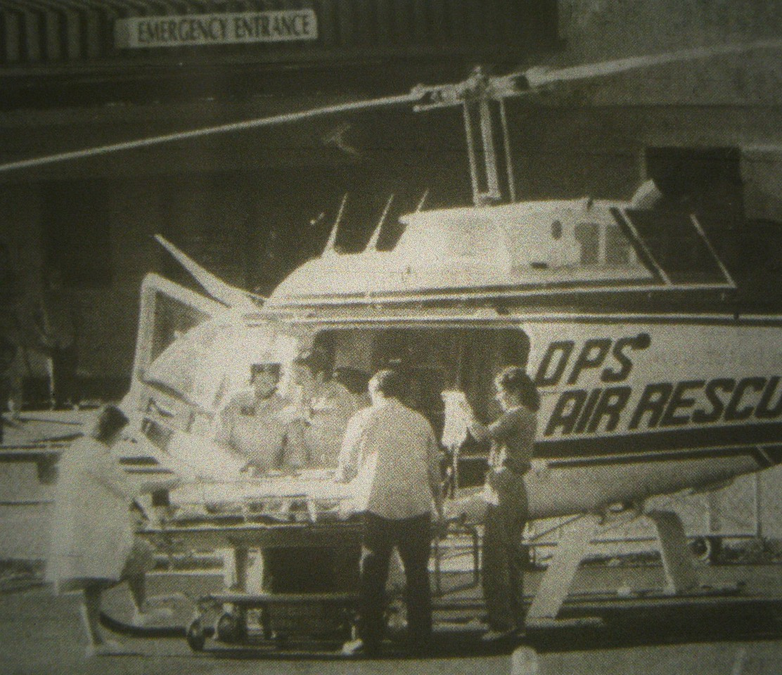 "All occupants of the aircraft sustained serious life threatening injuries consisting of blunt trauma, broken bones, and spinal injuries. <br /> <br /> Pilot Lloyd Hedges was badly injured. The pilot and passengers of ""Rocky IV"" were transported by helicopter to Flagstaff Medical Center."