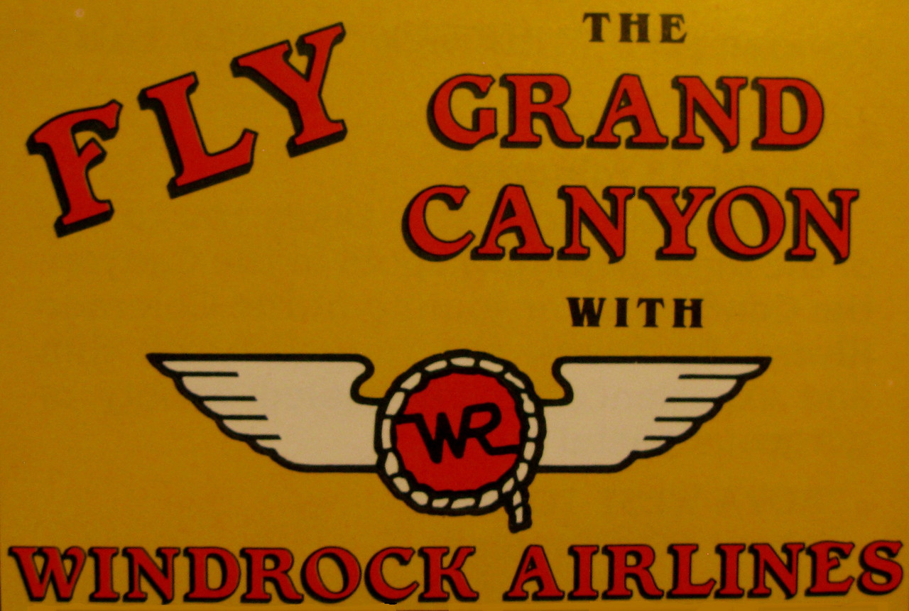 WINDROCK AVIATION (WINDROCK AIRLINES)<br /> <br /> The company was established in the mid 1980s by Ben Beagle. It was later sold to Dan Lawler (owner of Air Grand Canyon) in 1994. The company ceased operations in 2007.