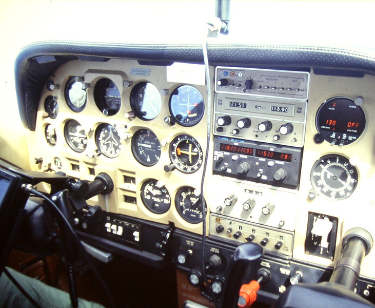 "The instrument panel of ""N19113"" had a mix of original and updated avionics. (Courtesy of Ewald Tritscher)"