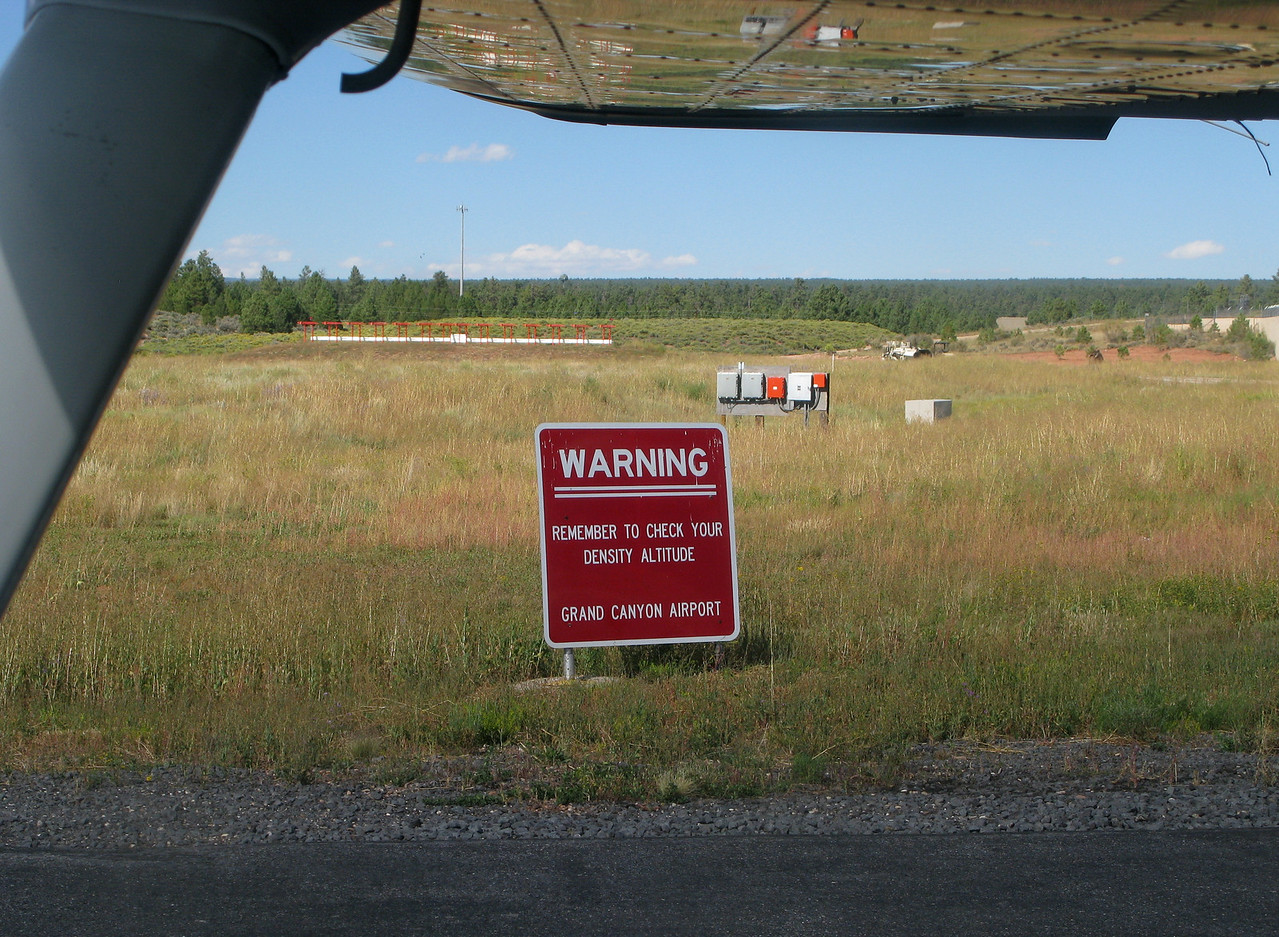 WARNINGS EVERYWHERE<br /> <br /> Prominent signs on either end of the runway warn pilots to check the density altitude. In addition, the density altitude is recorded and played back on the airport information (ATIS) frequency.<br /> <br /> The plane had been fueled (topped off) the night before. The aircraft weight at takeoff was estimated to be very close to the maximum gross weight of 2,500 pounds.<br /> <br /> Runway 03 has a positive gradient of 0.8 percent. The terrain continues to rise north of the airport.