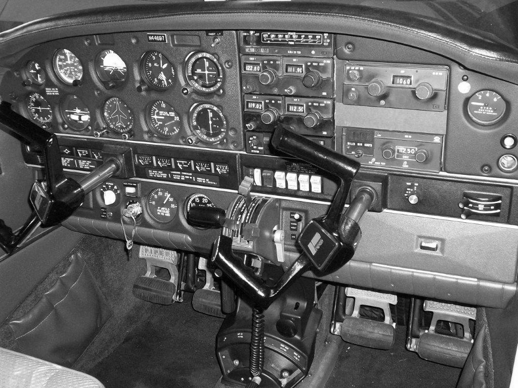 """The instrument panel and avionics of the accident aircraft probably looked much like this vintage Piper Cherokee's. For general aviation aircraft, this was a """"state of the art"""" panel in 1978.<br /> <br /> It was equipped to handle conditions of low visibility, but certainly not freezing rain and structural icing.<br /> <br /> The non-instrument rated pilot's 164 hours of flying experience was hardly enough to compensate for the hazardous winter weather conditions."""