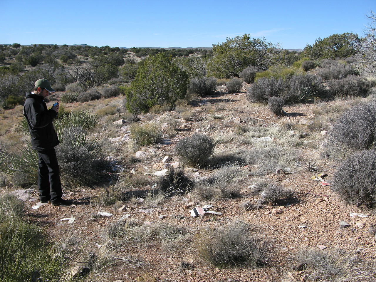 The concentration of wreckage debris suggests a steep vertical flight path to the ground. This also supports the NTSB's report that the aircraft had iced-up and stalled prior to impact.