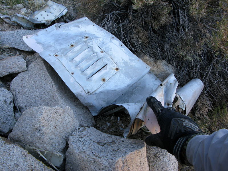 This lower fuselage panel fragment includes a cooling vent sub-panel.