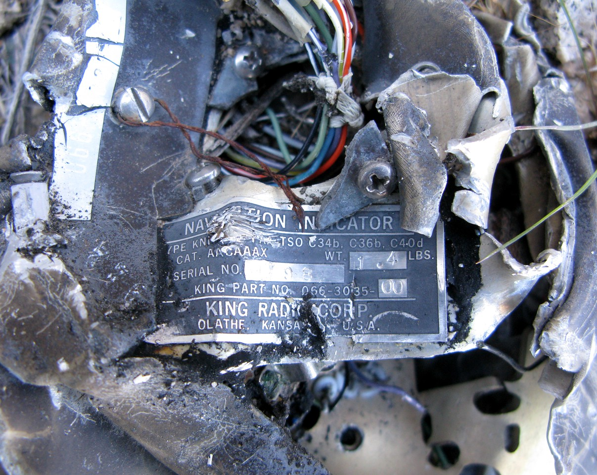 Again, the manufacture's product data tag was the only way to identify this and many other components from the crash site.