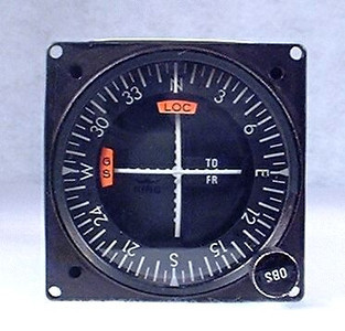 The KNI-521 Navigation Indicator was manufactured by King Radio Corp. It featured capabilities to navigate using VORs, Localyzer, and Glide Slope.